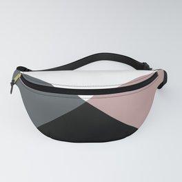 Modern dusty pink gray black white geometrical Fanny Pack