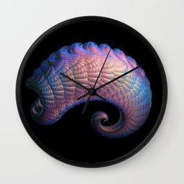 3D Fractal Curl Wall Clock