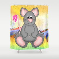 mouse Shower Curtains featuring Mouse by Digital-Art
