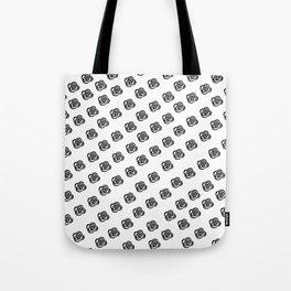 Black and White Rose Design Tote Bag