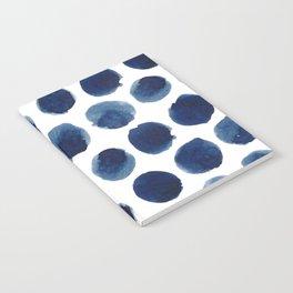 Watercolor polka dots Notebook