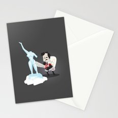Texas Chainsaw Ice Sculpting Stationery Cards