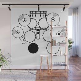 Heartbeats Drumset Wall Mural