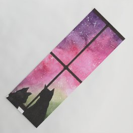 two cats and the galaxy Yoga Mat