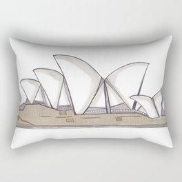 Sydney Opera House Illustration Rectangular Pillow