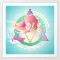Zodiac Geometry :: Pisces Art Print