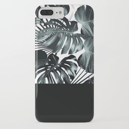 Palm Leaves and Black iPhone Case