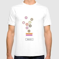 donut ad MEDIUM Mens Fitted Tee White