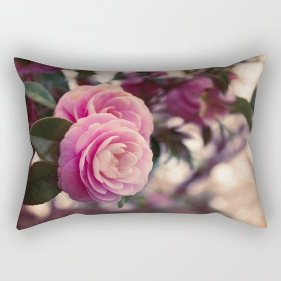 Pink camellia Rectangular Pillow