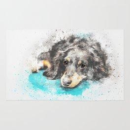 dog dachshund design Rug