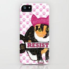 Cleo Resistance Cat iPhone Case