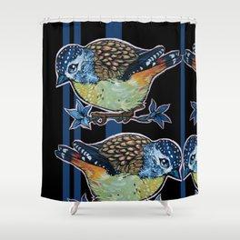 L'il Lard Butt Elusive Aussie - the Spotted Pardalotte Shower Curtain