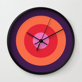 Lehua - Classic Colorful Abstract Minimal Retro 70s Style Graphic Design Wall Clock