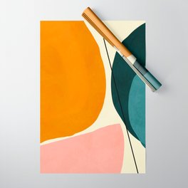 shapes geometric minimal painting abstract Wrapping Paper