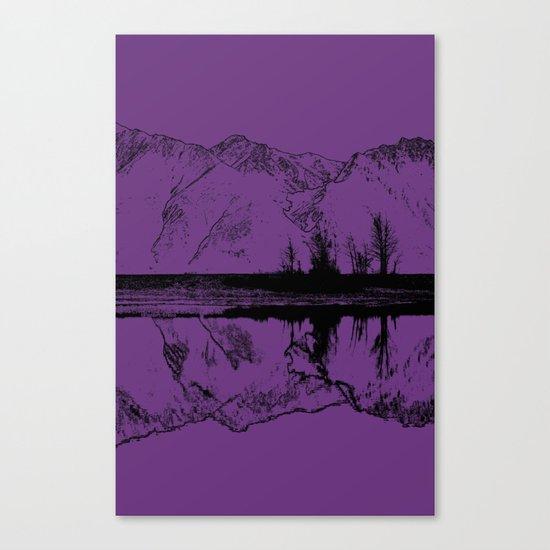 Knik River Mts. Pop Art - 2 Canvas Print