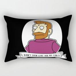 Hank Scorpio Alternative Simpsons Goth Punk Pop Art Rectangular Pillow