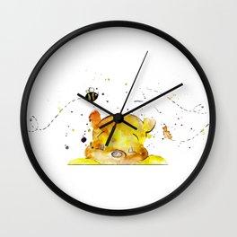 Yellow Bear Wall Clock