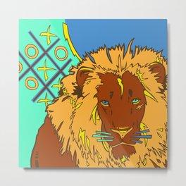 Lion Tac Toe Metal Print