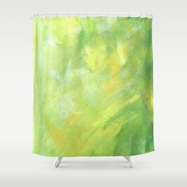 Green and Glow Shower Curtain