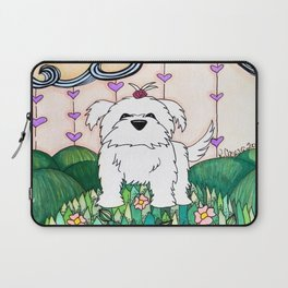 Cameo the Dog on a Hill Laptop Sleeve