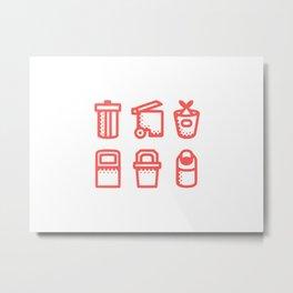 Trash Icons Metal Print