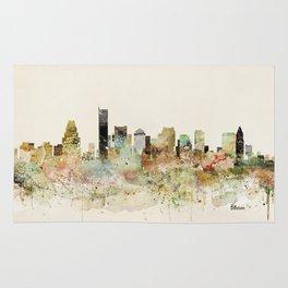 Boston Massachusetts skyline Rug