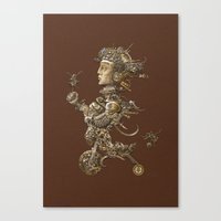 cycle Canvas Prints featuring CYCLE by AMULET