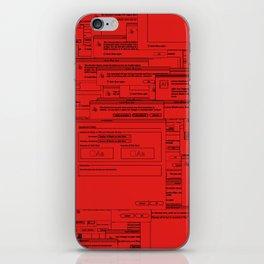Designer Dialogues AI A Red iPhone Skin