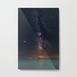 Milky Way Galaxy Poster, Star Digital Print, Night Sky Photography, Starry Sky Printable, Greece Metal Print