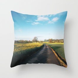 Early morning in derbyshire Throw Pillow