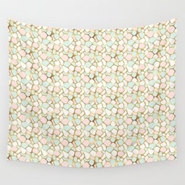Mint & Gold - dul Wall Tapestry