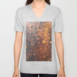 Amber Moon Lights Unisex V-Neck