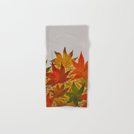 Autumn abstract watercolor 03 Hand & Bath Towel