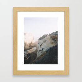 Morning Gold at Cape Kiwanda Framed Art Print