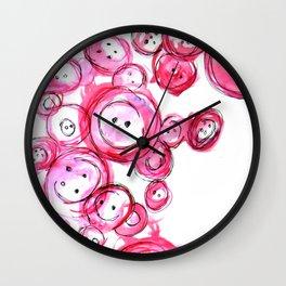 Buttons Wall Clock