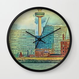 Albert Docks (Digital Art) Wall Clock