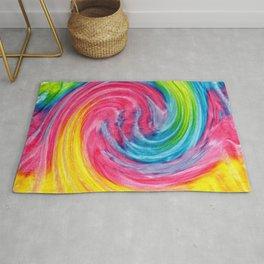 Colorful Rainbow Tie Dye  Rug