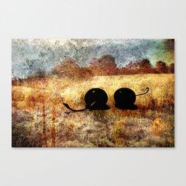 black cherry landscape Canvas Print