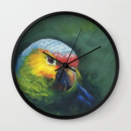 "Parrot portrait""Truman of the Amazons"" Wall Clock"