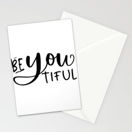 BE YOU TIFUL, Makeup Quote,Girls Room Decor,Bedroom Decor,Girly Svg,Women Gift,Gift For Her,Hello Go Stationery Cards