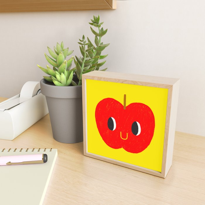 Apple friend Framed Mini Art Print