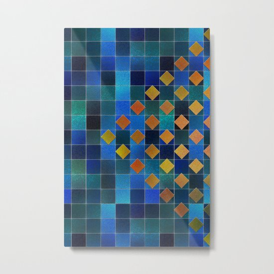 Added Squares Metal Print