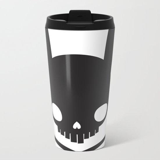 SKULL BUNNY OF PIRATES Metal Travel Mug