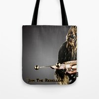 chewbacca Tote Bags featuring Chewbacca by KL Design Solutions