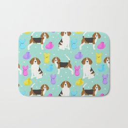 Beagle marshmallow peeps candy spring easter treat tradition for dog lovers Bath Mat
