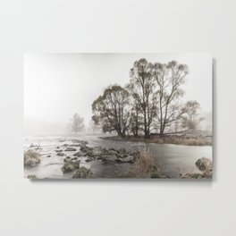 Early morning forest and creek Metal Print