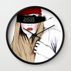 Suicide Blonde Wall Clock