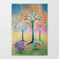Moon Bird Forest Canvas Print
