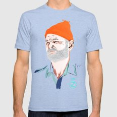 Doc Zissou Mens Fitted Tee Tri-Blue LARGE