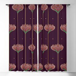 Wallpaper Floral Pattern In Style OF William Morris Blackout Curtain